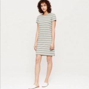 Lou & Grey | Linen Mixed Stripe Tee Dress XS
